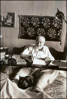 Henri Matisse & assistant, photo by Robert Capa