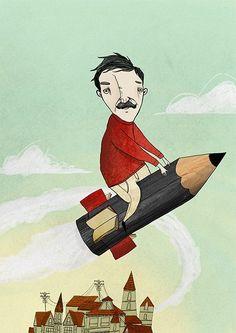 Editorial Illustrations // Sabitfikir Mag. 2012 by kaan bagci, via Behance