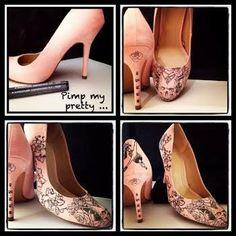 30 et alors ...: DIY : pimp my pretty shoes ...