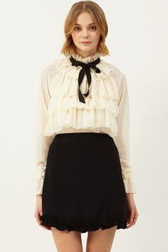 Anna Ruffle Mini Skirt Discover the latest fashion trends online at storets.com