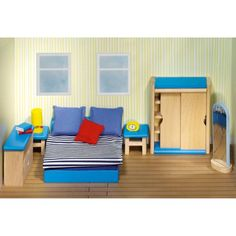 Poppenmeubels: slaapkamer ouders van Goki #speelgoed