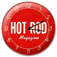 Vintage and Retro Wall Decor - JackandFriends.com - Vintage Hot Rod Magazine Wall Clock, $44.97 (http://www.jackandfriends.com/vintage-hot-rod-magazine-wall-clock/)
