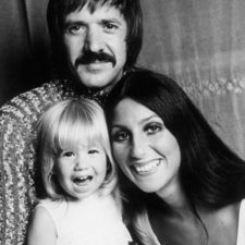 Sonny & Cher...and little Chastity!  Long before she became Chas!!