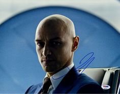 James Mcavoy Signed Horizontal Professor X in Suit Photo PSA/DNA