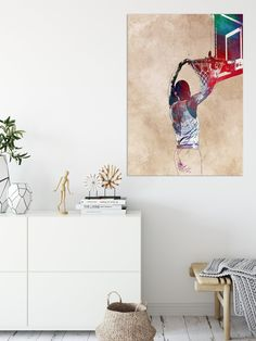 Basketball Posters, Paper Size, Canvas Size, Cotton Canvas, Maya, Giclee Print, Recycling, Colours, Display