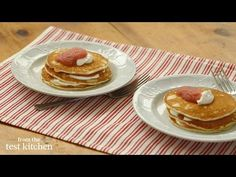 How to Make Applesauce Pancakes - From the Test Kitchen - YouTube