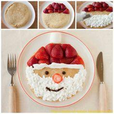 Santa Pancakes to match Smocked Auctions Santa Loungewear!