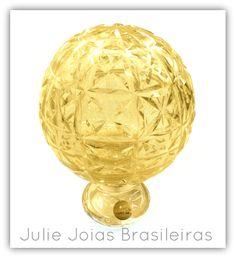 Pinha em Murano com pó de ouro 24k ( Murano crystal with 24k powdered gold)