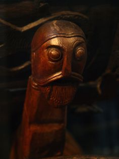 carved viking head by mararie, via Flickr