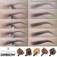 Eyebrow tut. Looks more natural that pencil. Go a shade lighter for a less intense look.