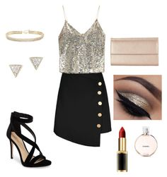 """""""Glitz"""" by madison-obrien on Polyvore featuring Alice + Olivia, Imagine by Vince Camuto, ABS by Allen Schwartz, Adina Reyter, Neiman Marcus, L'Oréal Paris and Chanel"""