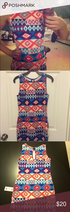 Diamonds Are A Girls Best Friend Dress Brand new with tags. From Reddress Boutique. Aztec or Geo print dress Everly Dresses Mini