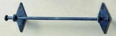 Toallero recto 46 Rombo, se puede cambiar el color de la forja.