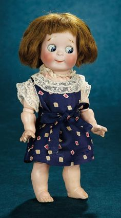 Forever Young - Marquis Antique Doll Auction: 297 German Bisque Googly, Model 221, by Kestner with Original Body