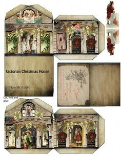 I actually printed this straight off the website. I am making it as an ornament Fits on an 8.5 x 10 cardstock paper #christmasvillage Victorian Christmas, Christmas Home, Miniature Christmas, Victorian House, Christmas Crafts, Christmas Paper, Christmas Deco, Paper Doll House, Paper Dolls