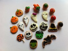 Polymer Clay HALLOWEEN Charms by DreamFimoCharms on Etsy. , via Etsy.