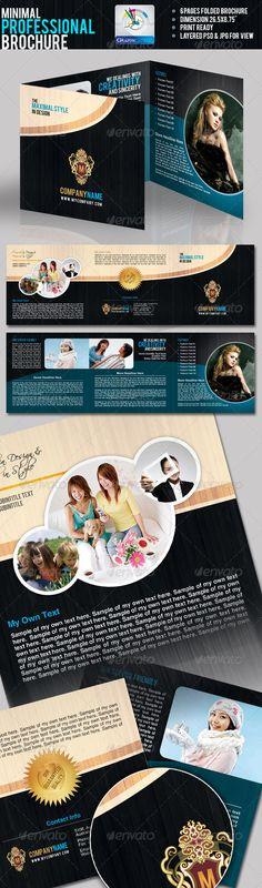 Minimal Professional Tri-fold Brochure $8.00