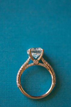 we ❤ this! moncheribridals.com #engagementrings #weddingrings