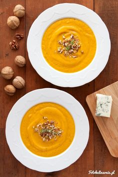 Cream of Carrot Soup with Gorgonzola Cheese. Gorgonzola Cheese, Banoffee Pie, Carrot Soup, Tex Mex, Cheeseburger Chowder, Thai Red Curry, Hummus, Feta, Soup Recipes