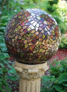 Phoenix Mosaic Gazing Globe