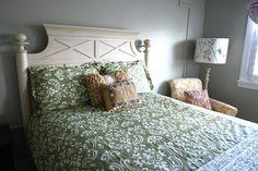 A Saltbox Green Ikat Bedding Restoration Hardware