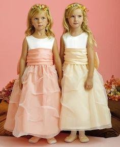 peach flower girl dresses - Google Search