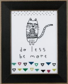 """AW301615 - Do Less, Be More - Mill Hill - Amylee Weeks Kit Includes: Beads, fabric , floss, needles, chart and instructions.  6"""" x 8"""" Mill Hill frame GBFRM19 sold separately Size: 5.25"""" x 7.25"""""""