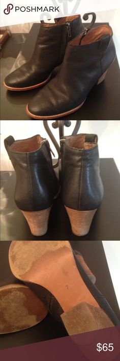"Madewell Black Booties Leather size 7 Gorgeous Madewell Leather Short Boots size 7 black with 2"" heel Madewell  Shoes Ankle Boots & Booties"