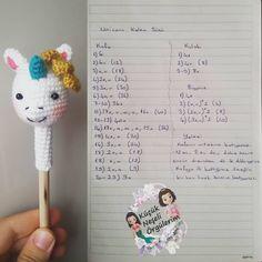 Super crochet unicorn hat free pattern news 43 ideas Crochet Doll Pattern, Crochet Patterns Amigurumi, Amigurumi Doll, Crochet Dolls, Hat Crochet, Crochet Keychain, Crochet Bookmarks, Crochet Unicorn Hat, Pen Toppers