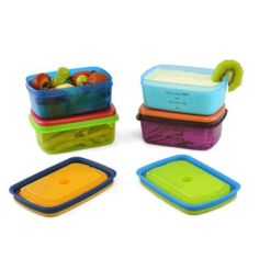 Fit & Fresh Kids' Soft Touch Lid 1 Cup Chilled Containers (Set of 4)