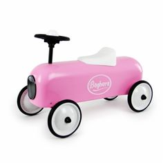 Baghera Pink Racer Ride on Car from The Toy Centre UK