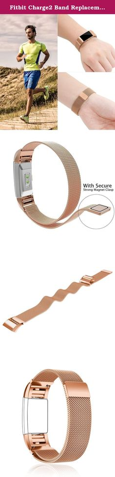 Fitbit Charge2 Band Replacement Large Small Taotree Fully Magnetic Closure Clasp Mesh Loop Milanese Stainless Steel Accessory Bracelet Strap for Fitbit Charge2 Fitness Tracker (Rose Gold). Taotree Replacement Milanese Band for Fitbit Charge 2 Elevate your style for every occasion. Magnetic closure. No need to to resize We promise a 100% money back guarantee.If the item you have received is defective in any way, please message us for free replacement or refund without return. Package...
