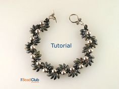 Right Angle Weave Beaded Bracelet Pattern by TheBeadClubLounge
