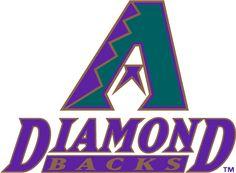 Arizona Diamondbacks Primary Logo (1998) - Turquoise, purple and copper A above Diamond Backs in purple and copper