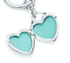 Tiffany & Co.   Item   Heart locket key ring in sterling silver.   United States