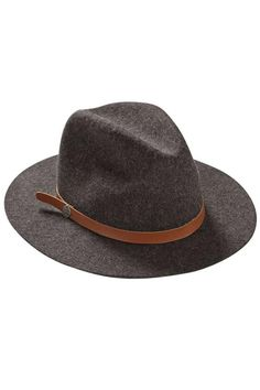 Better Over Here bohemian style grey felt wool fedora hat from Billabong with a faux leather saddle brown band. Throw on with a tee or tank and shorts or skinny jeans.     Felt Fedora by Billabong. Accessories - Hats Michigan