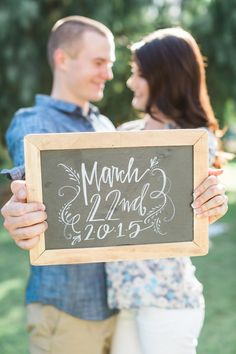 Vintage Styled Picnic Engagement Session - Save the Date Chalkboard Sign Engagement Photo Props, Picnic Engagement, Unique Engagement Photos, Wedding Engagement, Engagement Session, Engagement Photography Props, Engament Photos, Country Engagement, Engagement Ideas