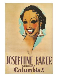 Josephine Baker Record Advertisement Premium Poster at Art.com