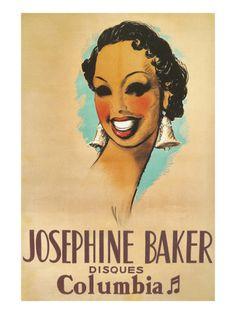 Josephine Baker Record Advertisement Premium Poster at Art.com