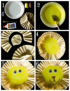 Coffee Filter Lion Preschool Craft and Toilet Paper Tube Binoculars