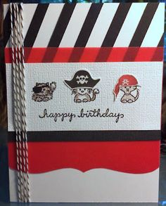 DeNami Birthday Pirate Cats card by Christine