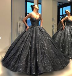 Ball Gown Bling Black Prom Dress Floor-Length Sequins Quinceanera Dress Sweet 16 Dresses for Girls Event Dresses, Formal Evening Dresses, 15 Dresses, Ball Dresses, Ball Gowns, Dress Formal, Sweet 16 Dresses, Pretty Dresses, Black Quinceanera Dresses