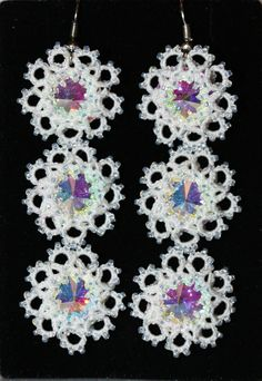 Bridal earrings Snow Queen long earrings big by LacyJewelry