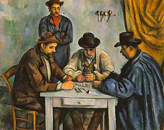 Los jugadores de cartas, 1890-1892, Paul Cézanne, New York, Metropolitan Museum of Art                                                                                                                                                                                 Más