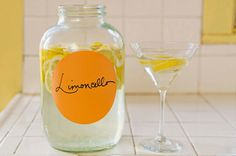 How to make Limoncello. Can make Limoncello Spritzer, Limoncello Cupcakes, too. Making Limoncello, Homemade Limoncello, Gourmet Gift Baskets, Gourmet Gifts, Homemade Liquor, Homemade Gifts, Refreshing Drinks, Summer Drinks, Fun Drinks