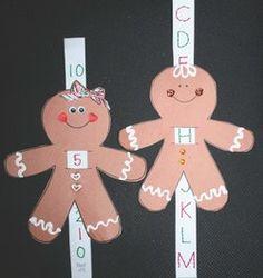 gingerbread activities, gingerbread crafts, gingerbread games, common core gingerbread, gingerbread sliders, alphabet activities, alphabet c...