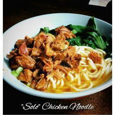 Delicious and Spicy Chicken Noodle