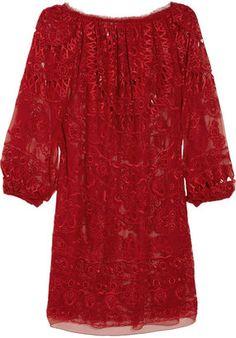 ShopStyle: Emilio Pucci Off-the-shoulder silk-chiffon tunic dress