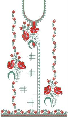 Single head Top & Duppata Embroidery Design Embroidery Neck Designs, Embroidery Dress, Textile Patterns, Textiles, My Images, Ali, Ribbon, Quilts, Pictures