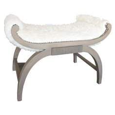 Paul Marra Neoclassical Bench Traditional, Transitional, Rustic Folk, Upholstery Fabric, Wood, Bench by Paul Marra Design